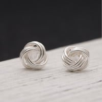 Joker temperament act the role ofing is tasted S925 pure silver solid geometry sun cloud allergy free earrings simple gifts