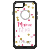 """DistinctInk™ OtterBox Commuter Series Case for Apple iPhone or Samsung Galaxy - Pink White Gold """"Mama Bear"""""""