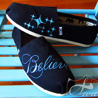 Justin Bieber Believe TOMS Classics by CustomSwaves on Etsy