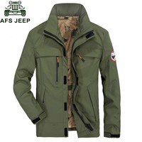 Trendy Afs Jeep Brand Men's Jackets Army Military Coat For Men Outwear Jacket Hooded Solid Casual Loose Men's Windbreaker Size M-4XL AT_94_13