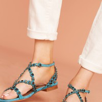 Lola Cruz Smile Gladiator Sandals