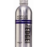 The Edge Acrylic Powder Clear 140g - Clear acrylic powder that adds a shiny finish to nails