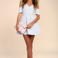 Ever So Enticing Grey Skater Dress