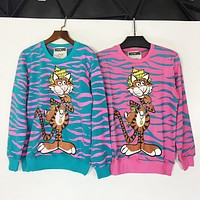 MOSCHINO new design of the casual animal with a striped shirt with a striped top