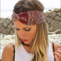 Hepburn Turban Red