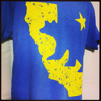 American Apparel Mens Vintage HOME California State Bear With Star For UCLA Fans Tshirt Valentine's Gift for Him