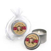 Baby Shower Candle Tins - Little Cowboy