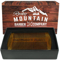 Beard Comb - Natural Organic Sandal Wood for Hair - Scented Fragrance Smell with Anti-Static & No Snag, Handmade Fine Tooth Brush Best for Beard & Moustache Packaged in Premium Giftbox