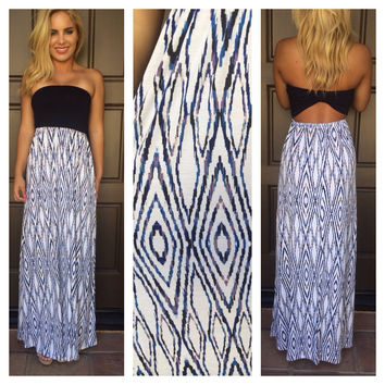 Eye Rule the World Maxi Dress - NAVY