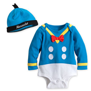 Donald Duck Disney Cuddly Bodysuit Costume for Baby - Personalizable