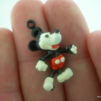 Vintage Genuine Disney Mickey Mouse Necklace Pendant Free Shipping