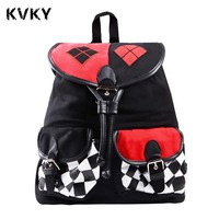 Batman Dark Knight gift Christmas Batman Suicide Squad Harley Quinn Backpack Daypack School Shoulder Bag Backpack For Costume Accessories mochila Cosplay Knapsack AT_71_6