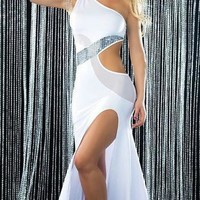 On Sale Hot Deal Cute Sexy Club Slim Prom Dress One Shoulder Plus Size Exotic Lingerie [6595875459]