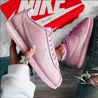 Onewel Nike Cortez Forrest Couple Retro Casual Sneakers Purple Pink