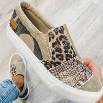 New style flat-bottomed footwear color matching large size casual shoes Canvas shoes