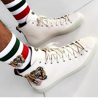 GUCCI fashion casual shoes snake-2