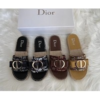 Dior Vintage Canvas fisherman sandals