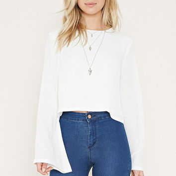 Boxy Bell-Sleeve Top | Forever 21 - 2000181742