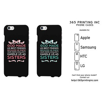 God Made Us Cute BFF Matching Phone Cases For Best Friends Great Gift Idea