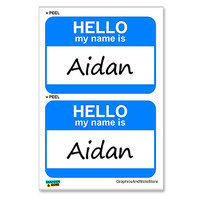 Aidan Hello My Name Is - Sheet of 2 Stickers