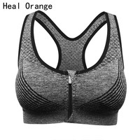 HEAL ORANGE Women Yoga Bra padded Sports Bra for Running Gym Fitness Athletic Bras Push Up Tank Tops For Girls ropa deportiva