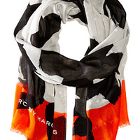 Marc by Marc Jacobs Paint Splashed Flower Scarf