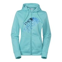 The North Face Fave Tonal Mosaic Full Zip Hoodie - Women's Medium - Mint Blue