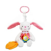 0+ Baby Toy Soft Rabbit Bunny Plush Doll Baby Crib Bed Hanging Animal Toy Teether Multifunction Doll Kids Toy