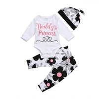 Daddy's Little Princess 3-Piece Clothing Set