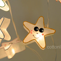 20 x mulberry paper white star smile face lantern string light hanging wedding party decor indoor display rustic light