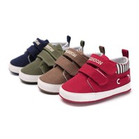 Baby Boy Girl Soft Crib Shoes Infant Toddler Slip-on  Canvas Sneakers Prewalkers