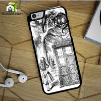 Alice In Wonderland and Cat on doctor who box iPhone 6S case by Avallen