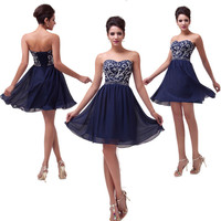 BEADS Formal Prom Evening Cocktail Party Short/ Long Homecoming Bridesmaid Dress
