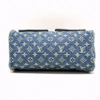 Authentic Louis Vuitton Monogram Denim Hand Bag Neo Speedy Blue France Ladies LV