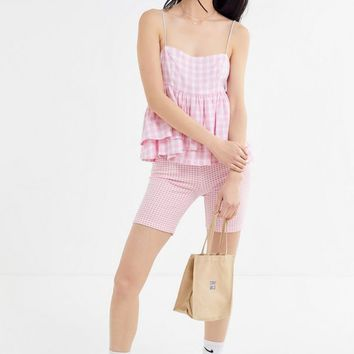 UO Olivia Tiered Ruffle Babydoll Top | Urban Outfitters