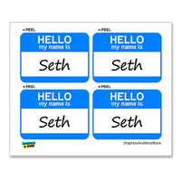 Seth Hello My Name Is - Sheet of 4 Stickers