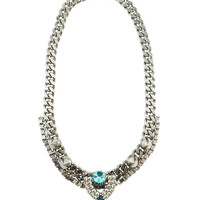 Courtney Lee Collection | Chloe Necklace Rhodium