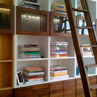 The Brooklyn Heights Bookcase Line - Reclaimed Wood Bookcase