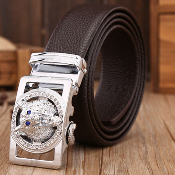 Luxury Genuine Leather Buckle Belts - 6 Colors
