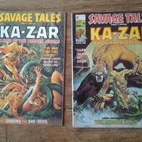 Savage Tales; V1, 8 and 9. Various Conditions. 1975.  Curtis Magazines (Marvel Comics).