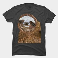 Happy Sloth T Shirt By Myartlovepassion Design By Humans