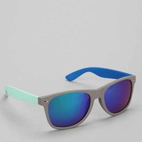Colorblock Matte Square Sunglasses- Multi One