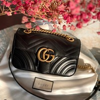 GUCCI GG Marmont Women's All-match Quilted Shoulder Bag
