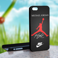 Nike Air Jordan Flight logo - Design on Hard Case for iPhone 4/4S Black Case Cover - Please Leave note for the case color: White Case or Clear Case