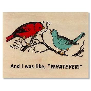 Everyday Whatever Wood Folding Card