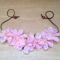 ON SALE! Pink Floral Crown, Festival Headband, Flower Headband, Ultra Music Festival, Coachella,  Floral Headband, Concert Wear, Rave Wear