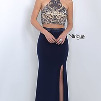 Intrigue by Blush High Neck Two Piece Dress