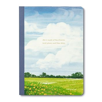 Inspirational Journal | SHE'S MADE OF BIG DREAMS, BOLD PLANS, AND BLUE SKIES.