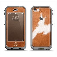 The Real Brown Cow Coat Texture Apple iPhone 5c LifeProof Nuud Case Skin Set