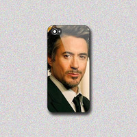 Robert Downey Jr - Print on Hard Cover for iPhone 4/4s, iPhone 5/5s, iPhone 5c - Choose the option in right side